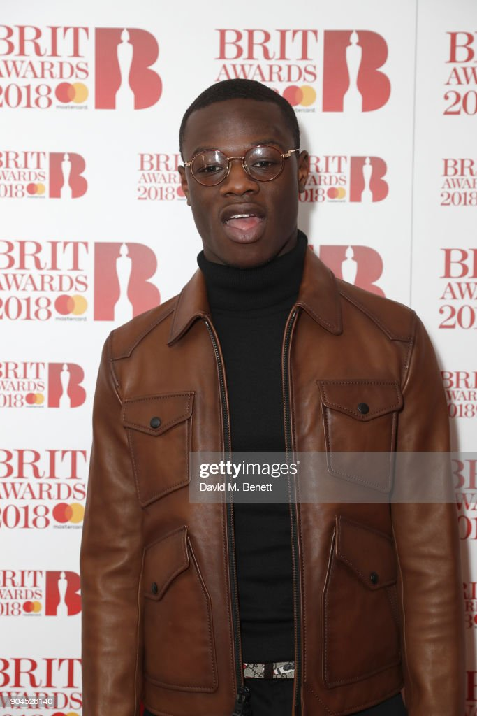 Images from this event are only to be used in relation to this event. J Hus attends the BRIT Awards 2018 nominations at ITV Studios on January 13, 2018 in London, England.