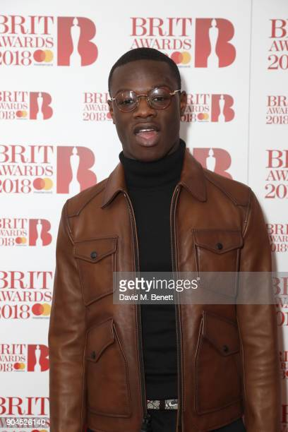 Images from this event are only to be used in relation to this event J Hus attends the BRIT Awards 2018 nominations at ITV Studios on January 13 2018...