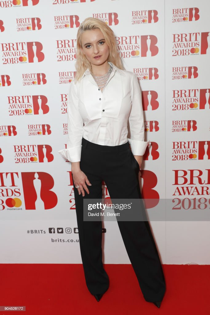 Images from this event are only to be used in relation to this event. Grace Chatto attends the BRIT Awards 2018 nominations at ITV Studios on January 13, 2018 in London, England.