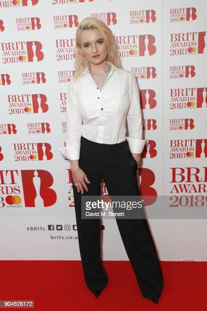 Images from this event are only to be used in relation to this event Grace Chatto attends the BRIT Awards 2018 nominations at ITV Studios on January...