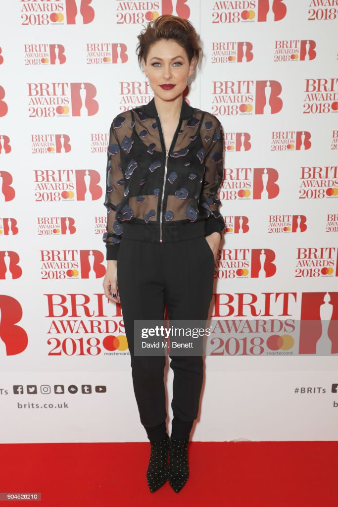 Images from this event are only to be used in relation to this event. Emma Willis attends the BRIT Awards 2018 nominations at ITV Studios on January 13, 2018 in London, England.