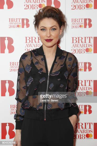 Images from this event are only to be used in relation to this event Emma Willis attends the BRIT Awards 2018 nominations at ITV Studios on January...