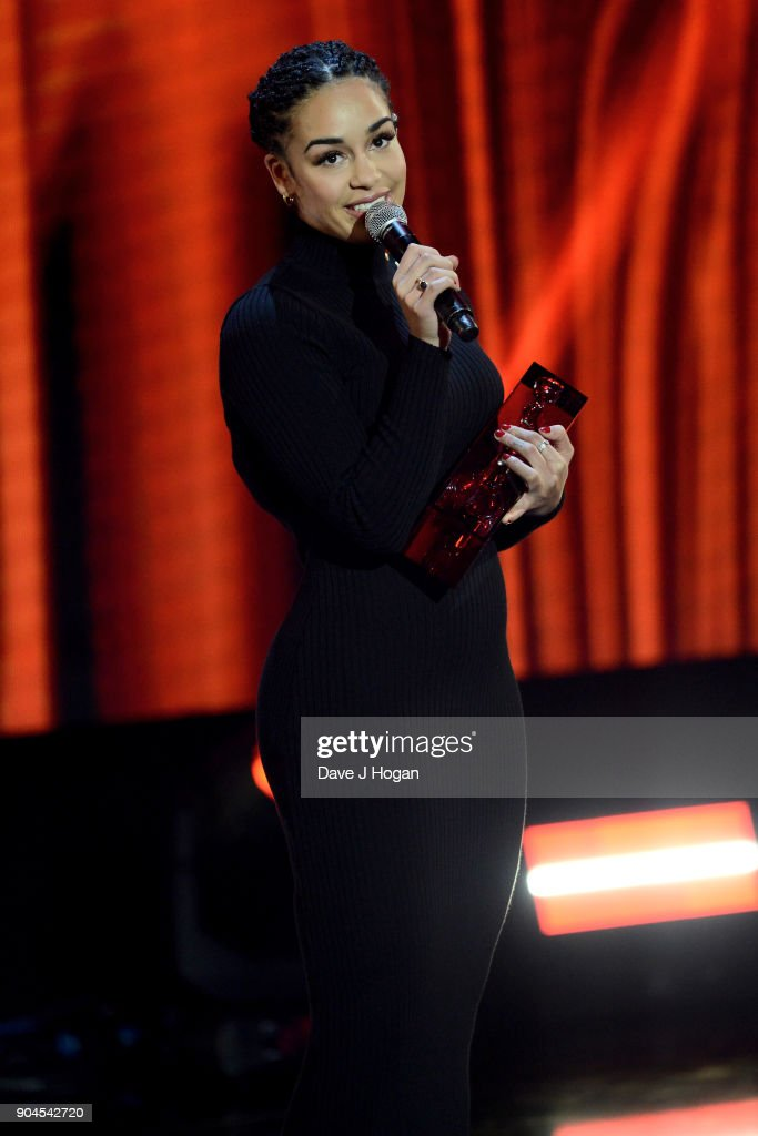 Images from this event are only to be used in relation to this event. Jorja Smith wins the CriticsÕ Choice Award at The BRIT Awards 2018 nominations held at ITV Studios on January 13, 2018 in London, England.