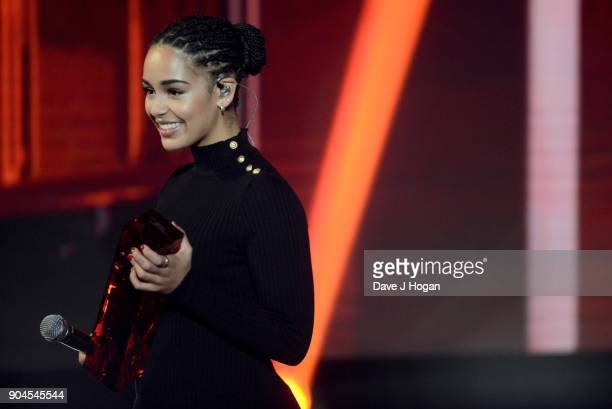 Images from this event are only to be used in relation to this event Jorja Smith wins the CriticsÕ Choice Award at The BRIT Awards 2018 nominations...