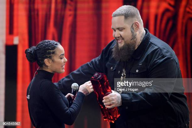 Images from this event are only to be used in relation to this event Rag ÕnÕ Bone Man presents Jorja Smith with the CriticsÕ Choice Award at The BRIT...