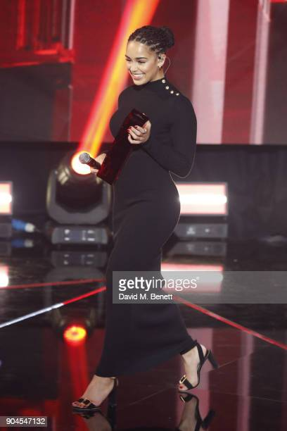EDITOR'S NOTE Images from this event are only to be used in relation to this event Jorja Smith performs at the BRIT Awards 2018 nominations at ITV...