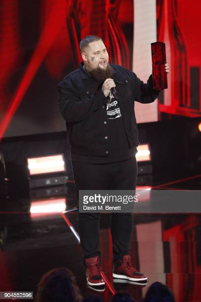 Images from this event are only to be used in relation to this event Rag'n'Bone Man performs at the BRIT Awards 2018 nominations at ITV Studios on...