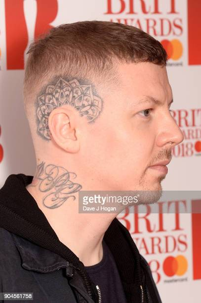 Images from this event are only to be used in relation to this event Professor Green attends The BRIT Awards 2018 nominations photocall held at ITV...