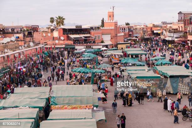 Images in The Medina in Marrakesh Morocco in North Africa.