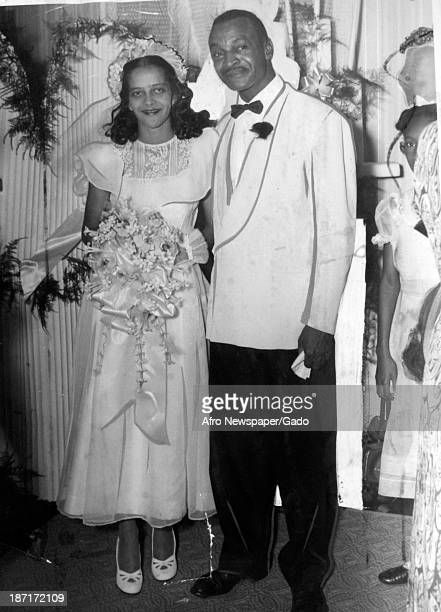 Images of African American brides and grooms on their wedding days, late 1940s.