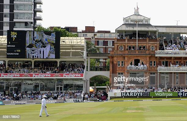 Images of former world heavyweight champion Muhammad Ali are displayed the big screen in tribute during day two of the 3rd Investec Test match...
