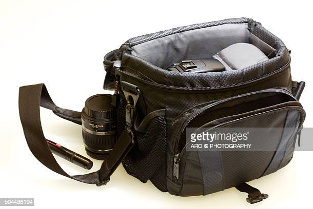 Images of generic camera bags.