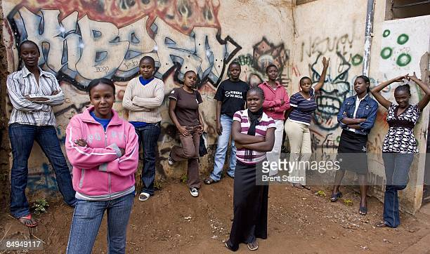 Images of impoverished girls who are very vulnerable in their communities on August 20 2008 in Nairobi Kenya The Nike Foundation for Girls has made...