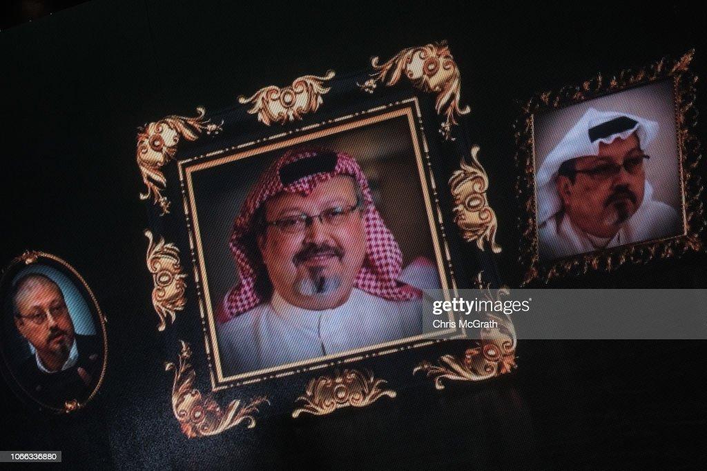 Commemorative Ceremony Held for Jamal Khashoggi In Istanbul : News Photo