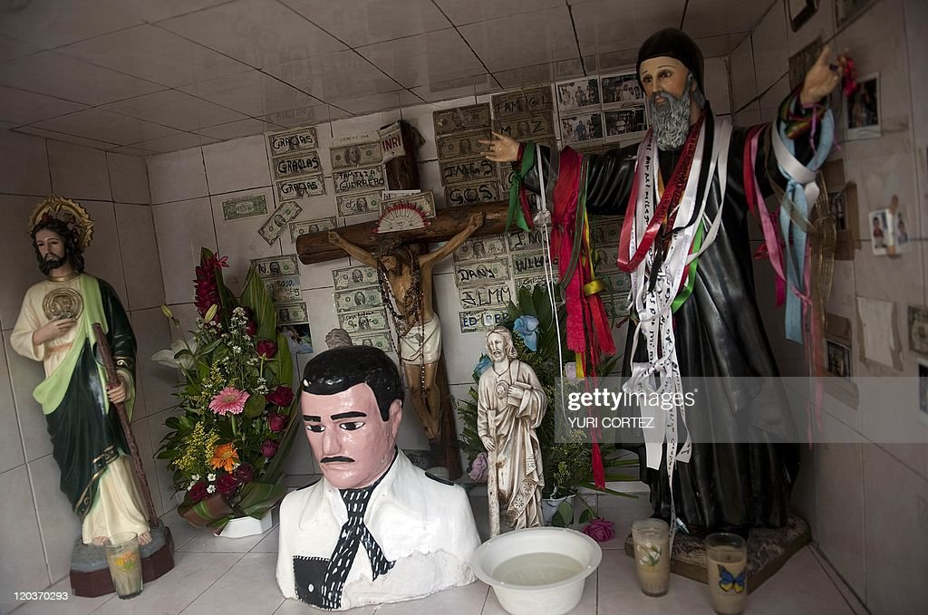Images Of Saints Like San Judas Tadeo Snd San Charbel And A Crucifix