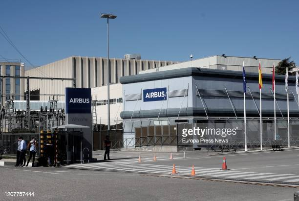 Images of the Airbus headquarters in Getafe the day workers concentrate against layoffs on February 21, 2020 in Madrid, Spain.