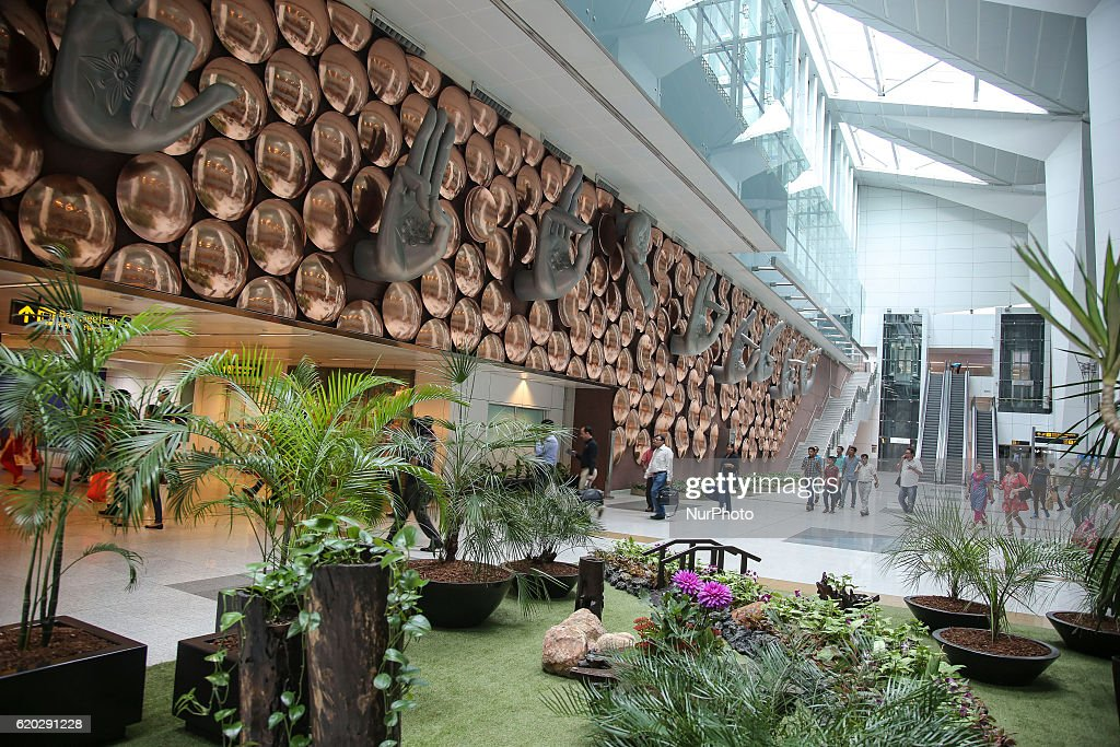 Overview of Delhi airport : News Photo