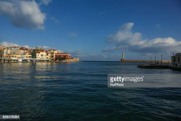 Images of the area of the old Venetian port in Chania town the second largest in Creta island Chania has many ancient and newer monuments in the...