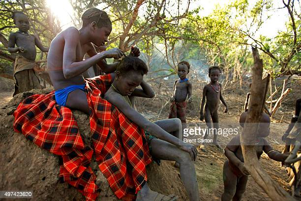 Images of the Dassanech people in the Lower Omo Valley South West Ethiopia 14 December 2008