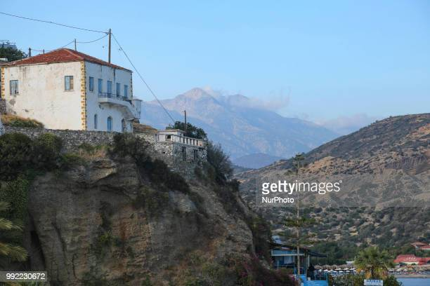 Images of the fishing village Agia Galini in Southern Crete Greece It belongs to Rethymno regional unit in Crete island and the water is the Libyan...