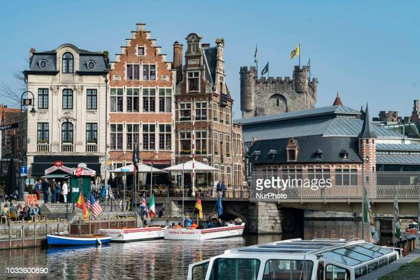 Images of the historic and popular for tourists city of Ghent in Belgium. Ghent is the capital of East Flanders and is located in the Flemish region...