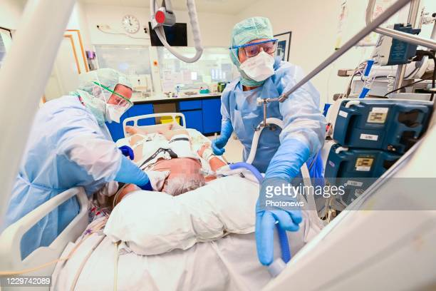 Images show the daily work of doctors and nurses inside the Vivalia Clinique Saint-Joseph hospital in Arlon. In order to meet the increasing needs in...