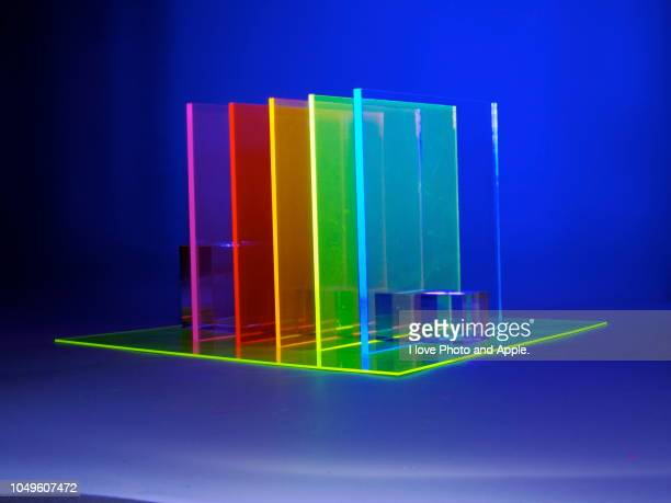 images with acrylic material and led light source - acrylic glass stock pictures, royalty-free photos & images