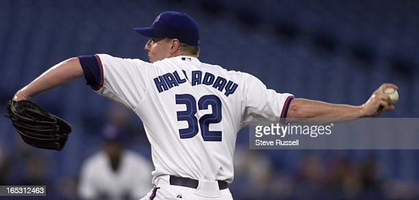 IMAGEToronto Blue Jays starter Roy Halladay threw a solid game after giving up an early run versus the Anaheim Angels in Toronto April 20 2000