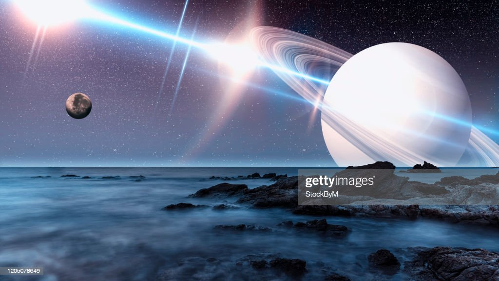 Imaginary alien world : Stock Photo