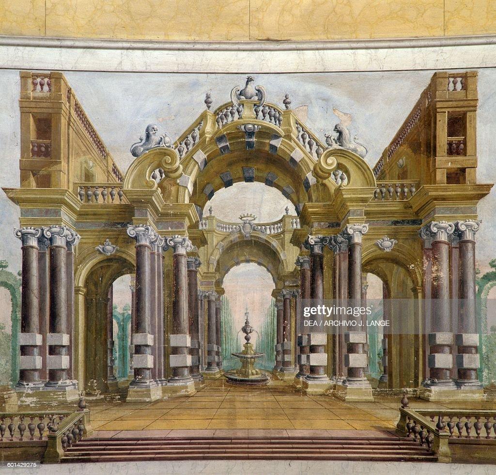 imaginary architecture trompe l 39 oeil villa sorra. Black Bedroom Furniture Sets. Home Design Ideas