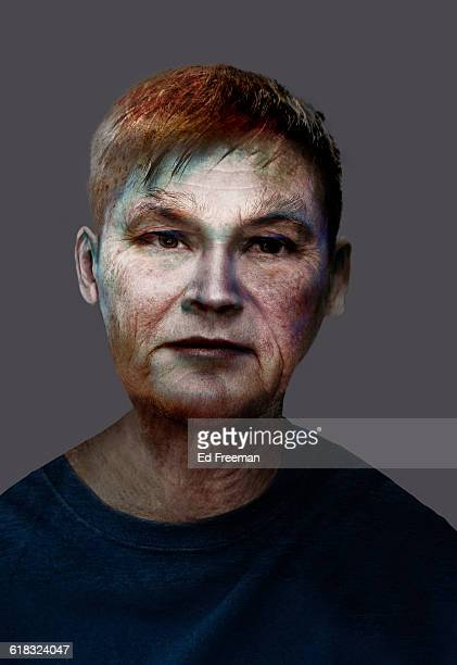 imaginary face - ピンクの頬 ストックフォトと画像