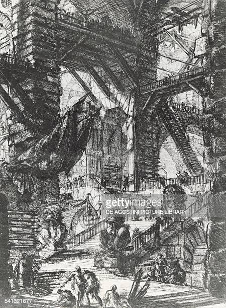 Imaginary prisons by Giovanni Battista Piranesi etching Italy 18th century