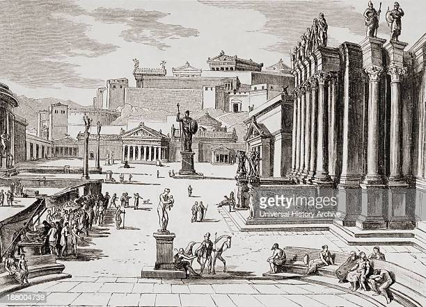 Imaginary View Of The Market Place In Ancient Sparta. From El Mundo Ilustrado, Published Barcelona, 1880.
