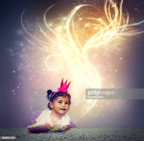 imagination brings stories to life - princess stock pictures, royalty-free photos & images