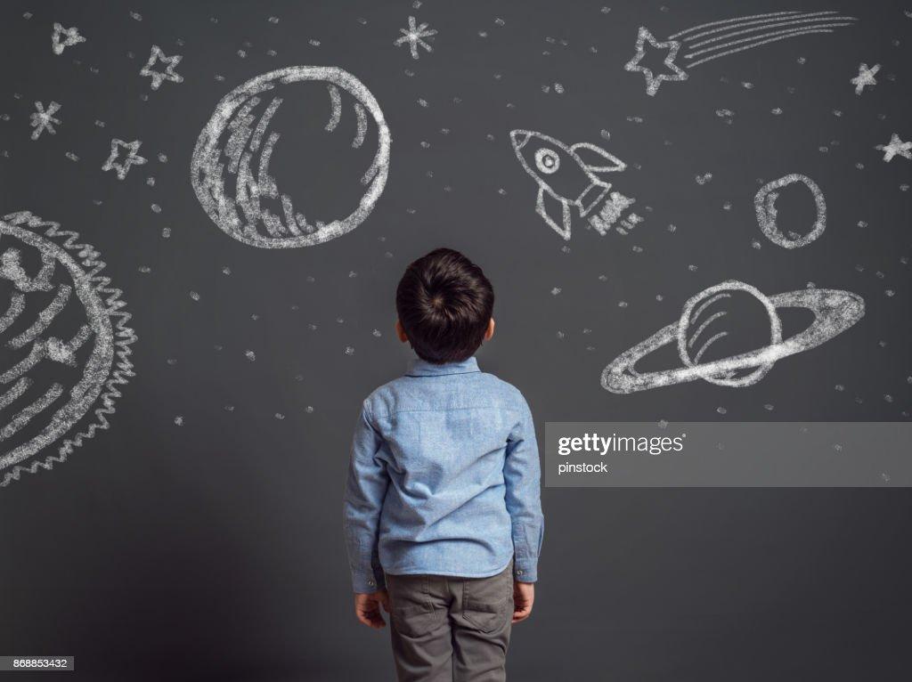 Imagination of little child : Stock Photo