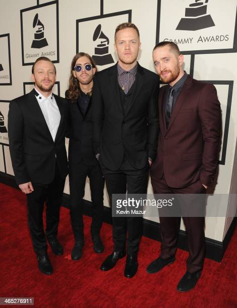 Imagine Dragons attend the 56th GRAMMY Awards at Staples Center on January 26 2014 in Los Angeles California