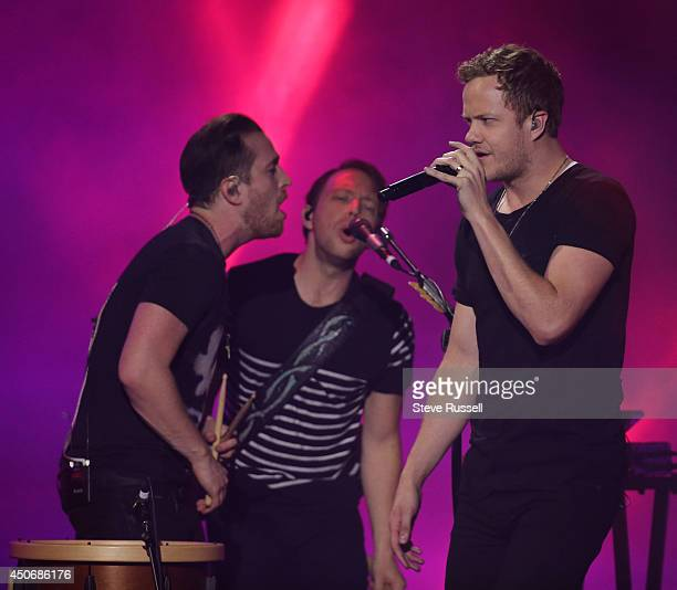 TORONTO JUNE 15 Imagine Dragons perform at MMVA 2014 awards show featuring some of the countries best talent on June 15 2014