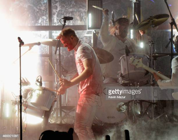 Imagine Dragons perform onstage during the 56th GRAMMY Awards at Staples Center on January 26 2014 in Los Angeles California