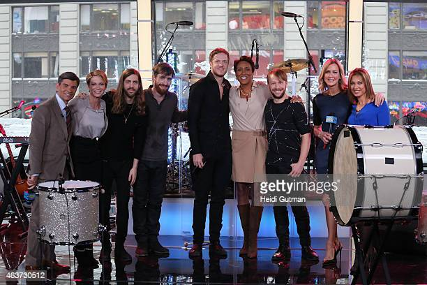 Imagine Dragons performs live on GOOD MORNING AMERICA, 2/17/15, airing on the Walt Disney Television via Getty Images Television Network.