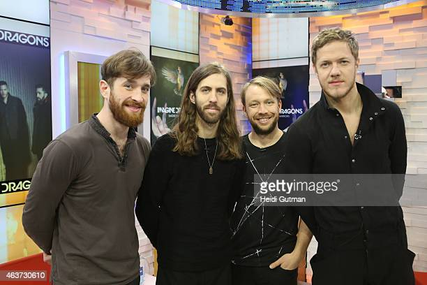 AMERICA Imagine Dragons performs live on GOOD MORNING AMERICA 2/17/15 airing on the ABC Television Network