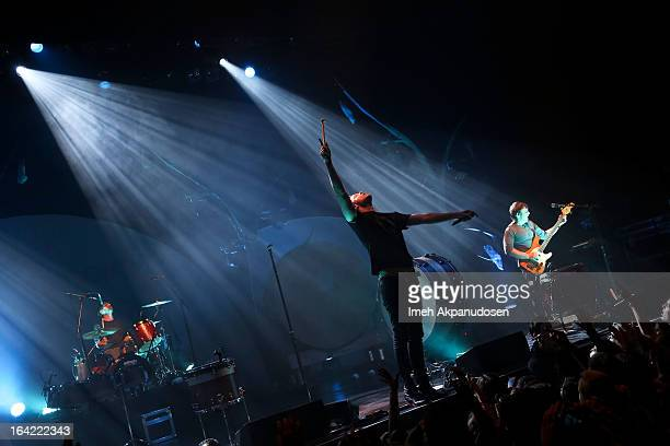 Imagine Dragons performs onstage at The Wiltern on March 20 2013 in Los Angeles California