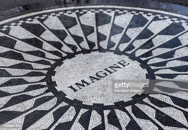 Imagine mosaic in Central Park New York City USA