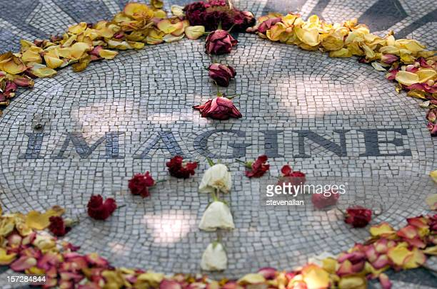 imagine - john lennon death stock photos and pictures