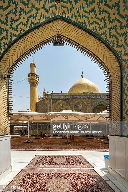 imam ali shrine in najaf - iraq - shrine of the imam ali ibn abi talib stock photos and pictures