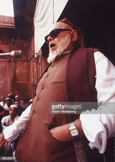 Imam Bukhari leading Fri prayer services at Jama Masjid Mosque in old Delhi