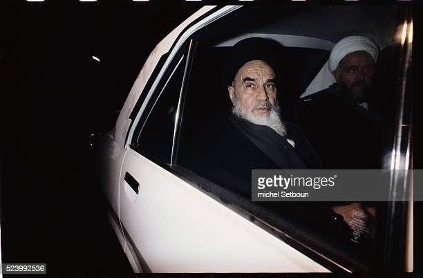 Imam Khomeini returns to Iran leaving Neauphles the castle Tehran Iran