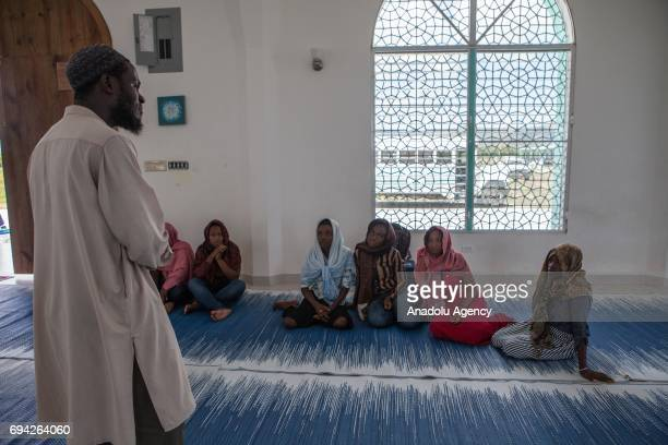 Imam Marwan of the Diyanet Islamic center gives a lecture about the basics of Islam to visiting university students in northern part of Cap Haiten...