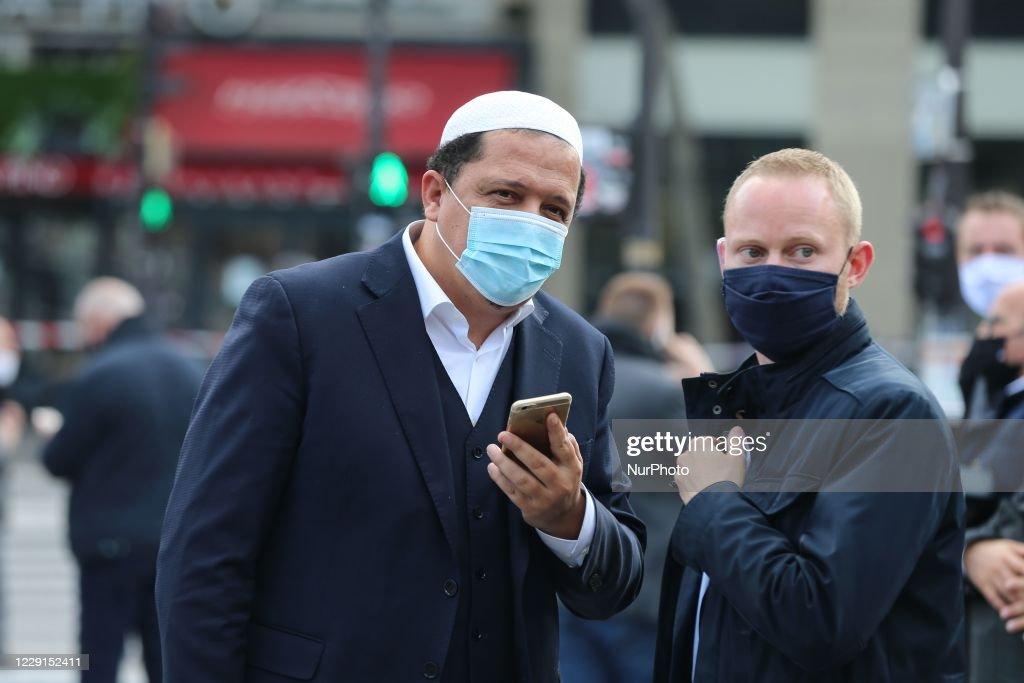 Gathering In Paris In Homage To Teacher Samuel Paty : News Photo
