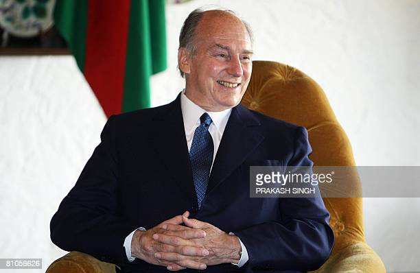 Imam of the Shia Imami Ismaili Muslims Aga Khan smiles during a meeting with unseen Indian Minister of State for External Affairs E Ahmed in New...