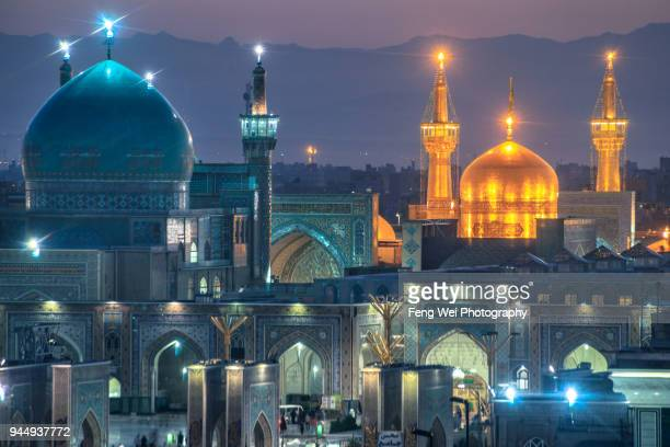 imam reza holy shrine, mashhad, razavi khorasan province, iran - shrine stock pictures, royalty-free photos & images